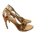 Heeled Sandals GUCCI Golden, bronze, copper
