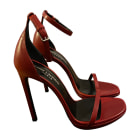 Heeled Sandals YVES SAINT LAURENT Red, burgundy