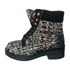 Flat Ankle Boots CHANEL Multicolor