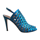 Heeled Sandals GUCCI Blue, navy, turquoise