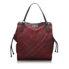 Leather Shoulder Bag BURBERRY Red