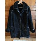 Manteau en cuir VINTAGE Noir