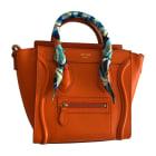 Leather Shoulder Bag CÉLINE Luggage Orange