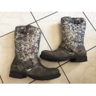 Bottines & low boots plates REPLAY Gris, anthracite