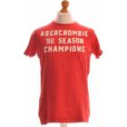 Tee-shirt ABERCROMBIE & FITCH Rouge, bordeaux