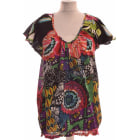 Top, tee-shirt DESIGUAL Rouge, bordeaux