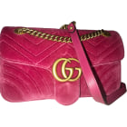 Leather Shoulder Bag GUCCI Marmont Pink, fuchsia, light pink
