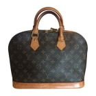 Non-Leather Handbag LOUIS VUITTON Alma Brown