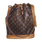 Leather Shoulder Bag LOUIS VUITTON Noé Brown