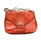 Leather Shoulder Bag SÉZANE Red, burgundy