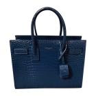 Leather Shoulder Bag SAINT LAURENT Sac de Jour Blue, navy, turquoise