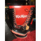 Bottines & low boots plates KICKERS Noir
