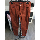 Pantalon slim, cigarette ETAM Marron