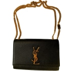 Leather Shoulder Bag SAINT LAURENT Kate Black