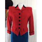 Blazer, veste tailleur VINTAGE Noir et rouge