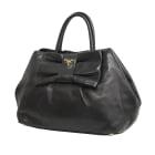 Leather Handbag PRADA Black