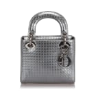 Leather Shoulder Bag DIOR Silver