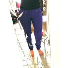Pantalon slim, cigarette CIMARRON Violet, mauve, lavande