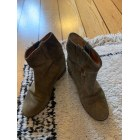 Santiags, bottines, low boots cowboy ISABEL MARANT Kaki