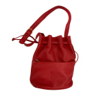 Leather Shoulder Bag LANCEL Red, burgundy
