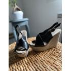 Sandales compensées MINELLI Noir et gris