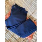 Pantalon slim, cigarette PLEASE Bleu, bleu marine, bleu turquoise