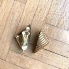 Boucles d'oreille VINTAGE Doré, bronze, cuivre
