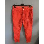Pantalon slim, cigarette 1.2.3 Rouge, bordeaux