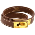 Bracelet HERMÈS Kelly Double Tour Marron