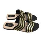 Sandales plates  FENDI Noir