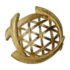 Broche KENZO Doré, bronze, cuivre