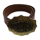 Ceinture large JUST CAVALLI Marron