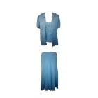 Tailleur jupe ARMAND VENTILO Bleu, bleu marine, bleu turquoise