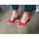 Sandales compensées TAMARIS Rouge, bordeaux