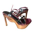 Sandales compensées YVES SAINT LAURENT Multicouleur