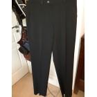 Pantalon droit BRUNO SAINT HILAIRE Noir