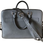 Briefcase, folder LOUIS VUITTON Gray, charcoal