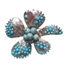 Broche CHRISTIAN LACROIX Turquoise