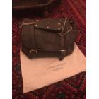 Leather Handbag SÉZANE Gray, charcoal