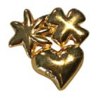 Broche CHRISTIAN LACROIX Doré, bronze, cuivre
