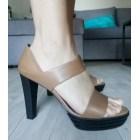 Sandales à talons HOGAN Beige, camel
