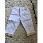 Pantalon KENZO Blanc, blanc cassé, écru