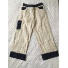Pantalon DIOR Blanc, blanc cassé, écru