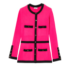 Gilet, cardigan CHANEL Rose, fuschia, vieux rose