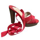 Sandales à talons CHRISTIAN LOUBOUTIN Rouge, bordeaux