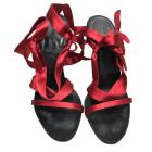 Sandales à talons GIVENCHY Rouge, bordeaux