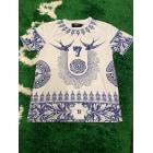 Tee-shirt UNKUT Bleu, bleu marine, bleu turquoise