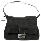 Non-Leather Handbag FENDI Baguette Black
