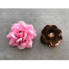 Barrette H&M Rose, fuschia, vieux rose