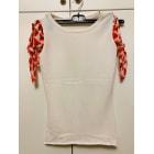 Top, tee-shirt JC DE CASTELBAJAC Blanc, blanc cassé, écru